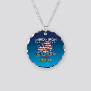German American Necklace Circle Charm