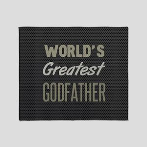 World's Greatest Godfather Throw Blanket