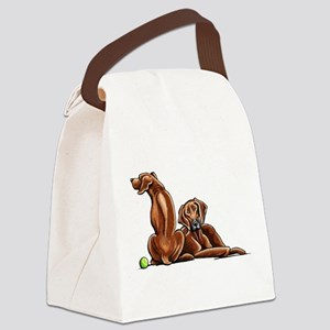 2 Ridgebacks Canvas Lunch Bag