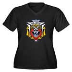 USS LEYTE Women's Plus Size V-Neck Dark T-Shirt