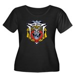 USS LEYT Women's Plus Size Scoop Neck Dark T-Shirt