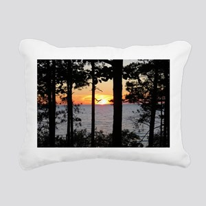 Lake Superior Sunset Rectangular Canvas Pillow