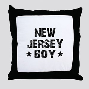 New Jersey Boy Throw Pillow