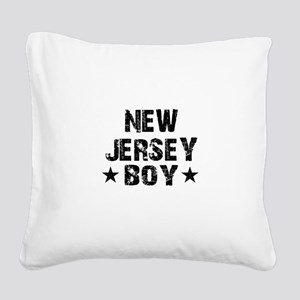 New Jersey Boy Square Canvas Pillow