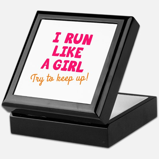 Unique Run like a girl Keepsake Box