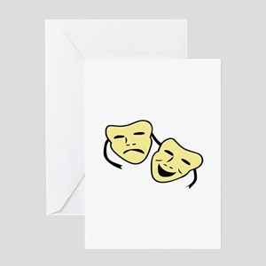 Theatre Masks Greeting Cards