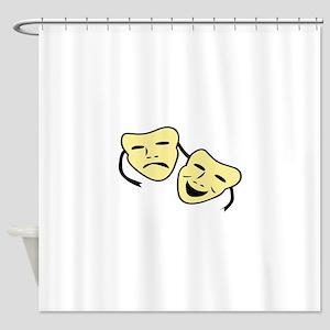 Theatre Masks Shower Curtain
