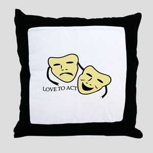 Love To Act Throw Pillow