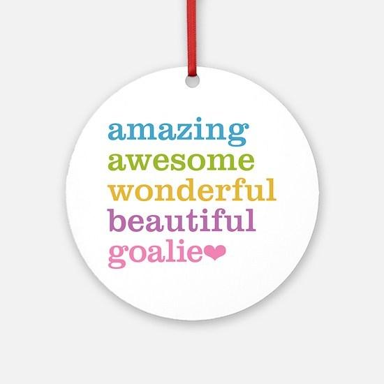 Cute Goal Round Ornament