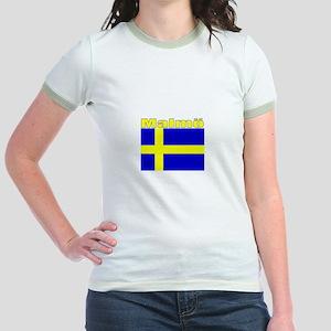 Malmo, Sweden Jr. Ringer T-Shirt