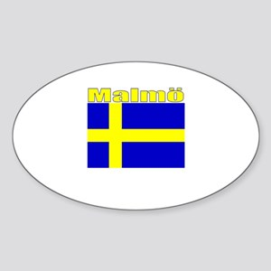 Malmo, Sweden Oval Sticker