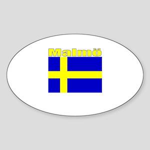 Malmo, Sweden Oval Sticker