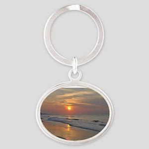 Sunrise Oval Keychain