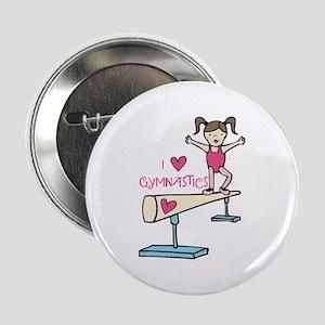 """Love Gymnastics 2.25"""" Button"""