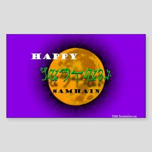 Happy Samhain Rectangle Sticker