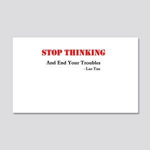 stop thinking Wall Decal