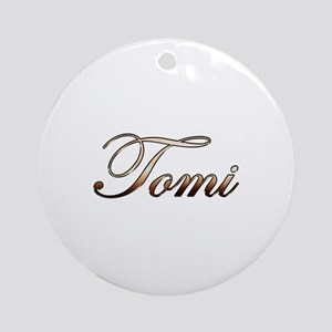 Gold Tomi Round Ornament