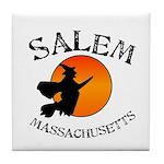 Salem Massachusetts Witch Tile Coaster