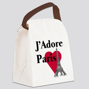 I LOVE PARIS Canvas Lunch Bag