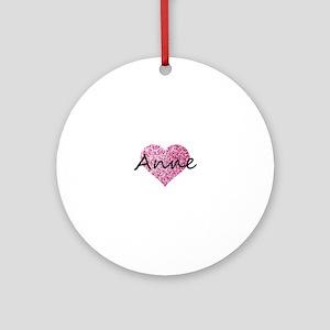 Anne Round Ornament