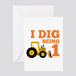 Dig Being 1 Greeting Cards