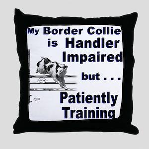 Border Collie Agility Throw Pillow