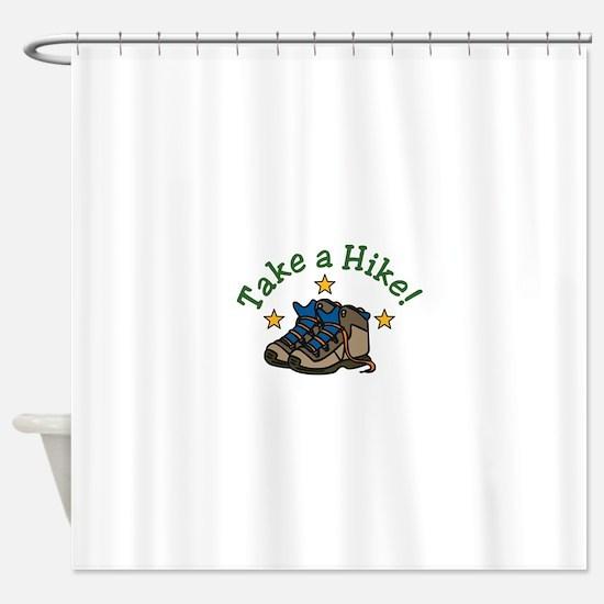 Take a Hike! Shower Curtain