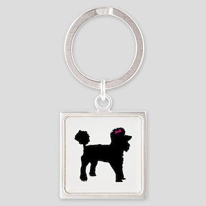 Black Poodle Keychains