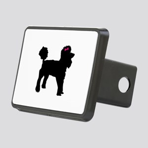 Black Poodle Hitch Cover