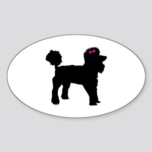 Black Poodle Sticker