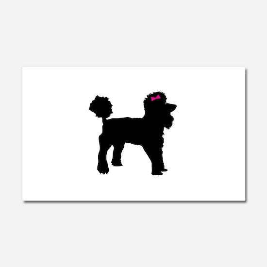 Black Poodle Car Magnet 20 x 12