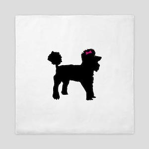 Black Poodle Queen Duvet