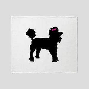 Black Poodle Throw Blanket