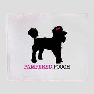 pampered pooch Throw Blanket