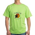 Salem Massachusetts Witch Green T-Shirt