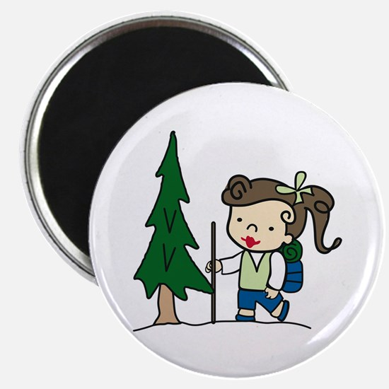 Backpacking Girl Magnets