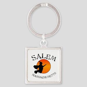 Salem Massachusetts Witch Square Keychain