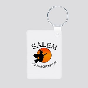 Salem Massachusetts Witch Aluminum Photo Keychain
