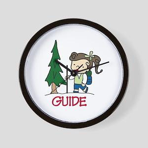 Guide Girl Wall Clock