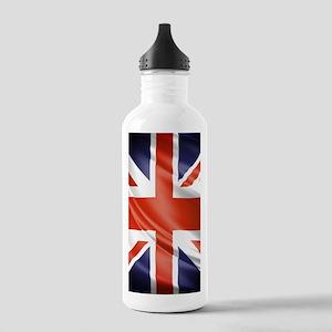 Artistic Union Jack Water Bottle