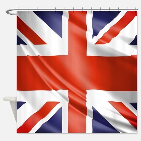 Artistic Union Jack Shower Curtain
