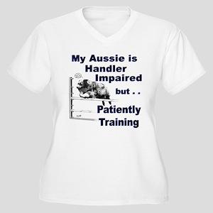 Aussie Agility Women's Plus Size V-Neck T-Shirt