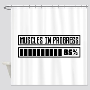 Muscles in progess workout C1k6x Shower Curtain
