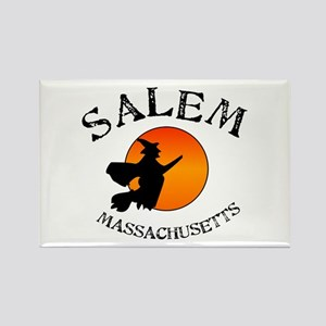Salem Massachusetts Witch Rectangle Magnet