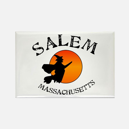 Salem Massachusetts Witch Rectangle Magnet