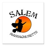 "Salem Massachusetts Witc Square Car Magnet 3"" x 3"""