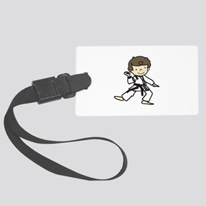 Karate Boy Luggage Tag