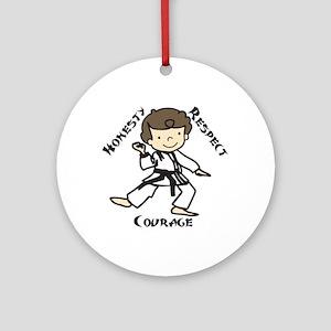 Honesty Respect Courage Ornament (Round)