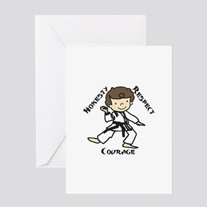 Honesty Respect Courage Greeting Cards