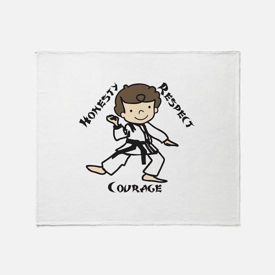 Honesty Respect Courage Throw Blanket